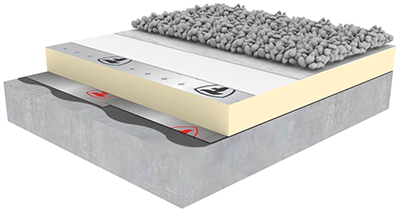 Firestone 3d Build Up Tpo Ballasted System With Gravel